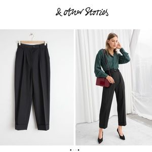 &other stories High Waisted Wool Blend Pants 4 New